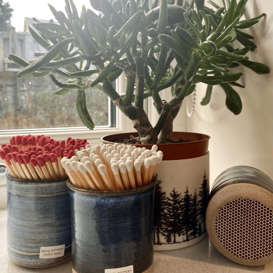 Anvil Pottery Match Pots