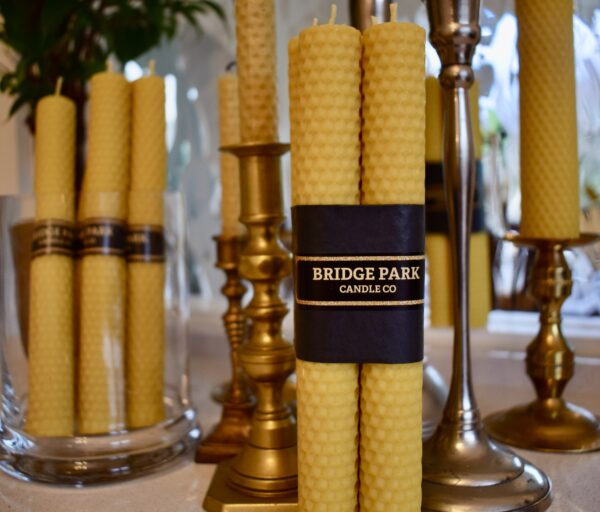 selection of rolled beeswax candles