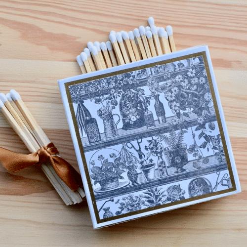 Box of garden shelves luxury matches