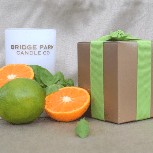 bridge park company lime basil and mandarin candle