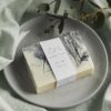 Bar of Authentic House Mint Ice Essential Oil Soap on a dish