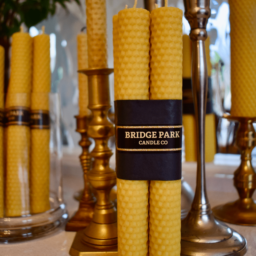 Bridge Park Candle Company Hand Rolled Beeswax Candles